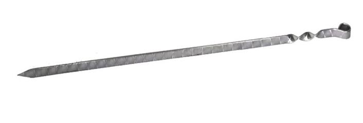 Шампур плоский, кольцо, нержавеющая сталь, узор 500х12х3 мм. - фото 11082