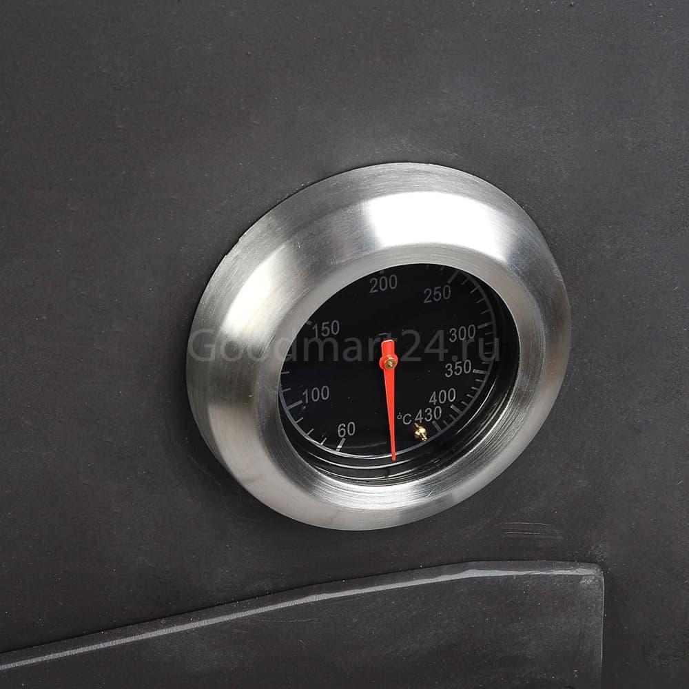 Печь для казана Гурман, под казан до 16 литров, термометр, сталь - 4 мм. - фото 11110