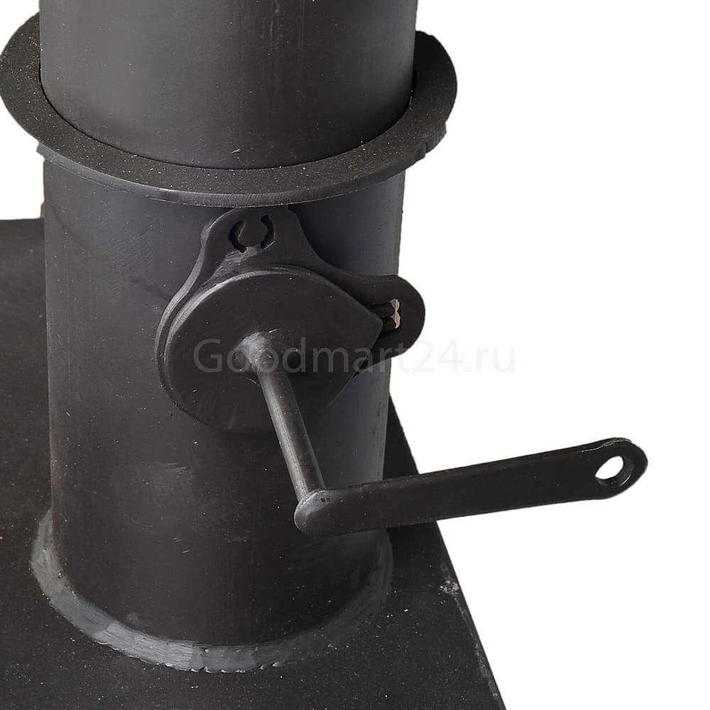 Печь для казана Гурман, под казан до 16 литров, термометр, сталь - 4 мм. - фото 11112