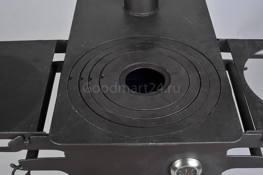 Печь для казана Гурман, под казан до 16 литров, термометр, сталь - 4 мм. - фото 11116