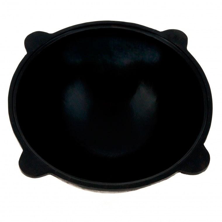 Казан чугунный для костра 8 литров Узбекистан, круглое дно - фото 11695