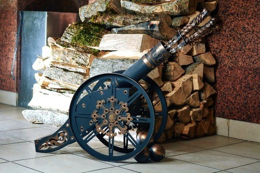 Шампурница на 15 шампуров декоративная Пушка d-102 мм. - фото 11773