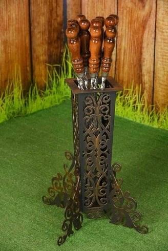 Шампурница кованая Ника на 8 шампуров - фото 11783