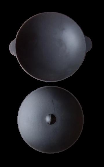 Сковорода чугунная ВОК-К 36 см. алюм. крышка Балезинский ЛМЗ - фото 12425