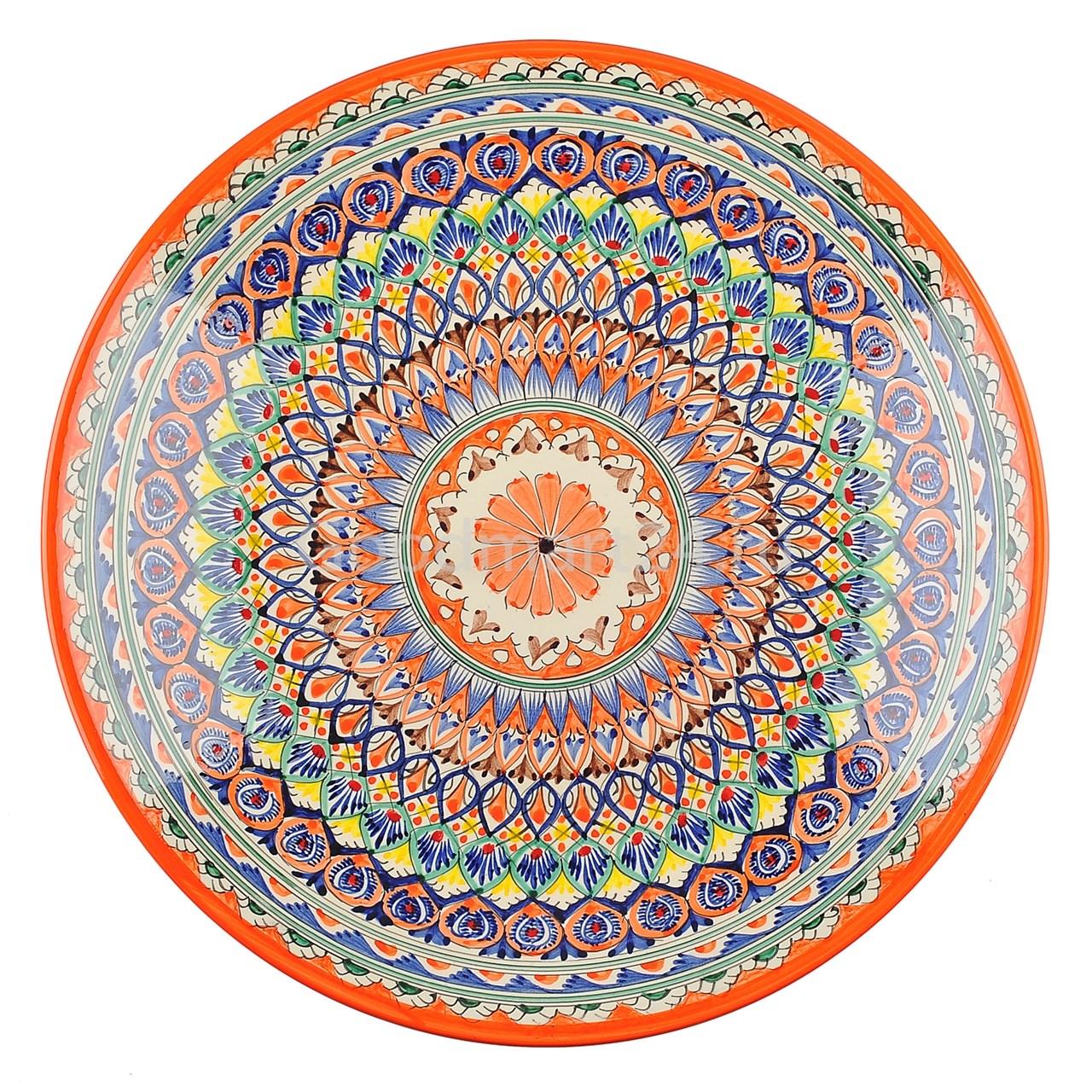 Риштанский Ляган 38 см оранжевый Мехроб - фото 12843
