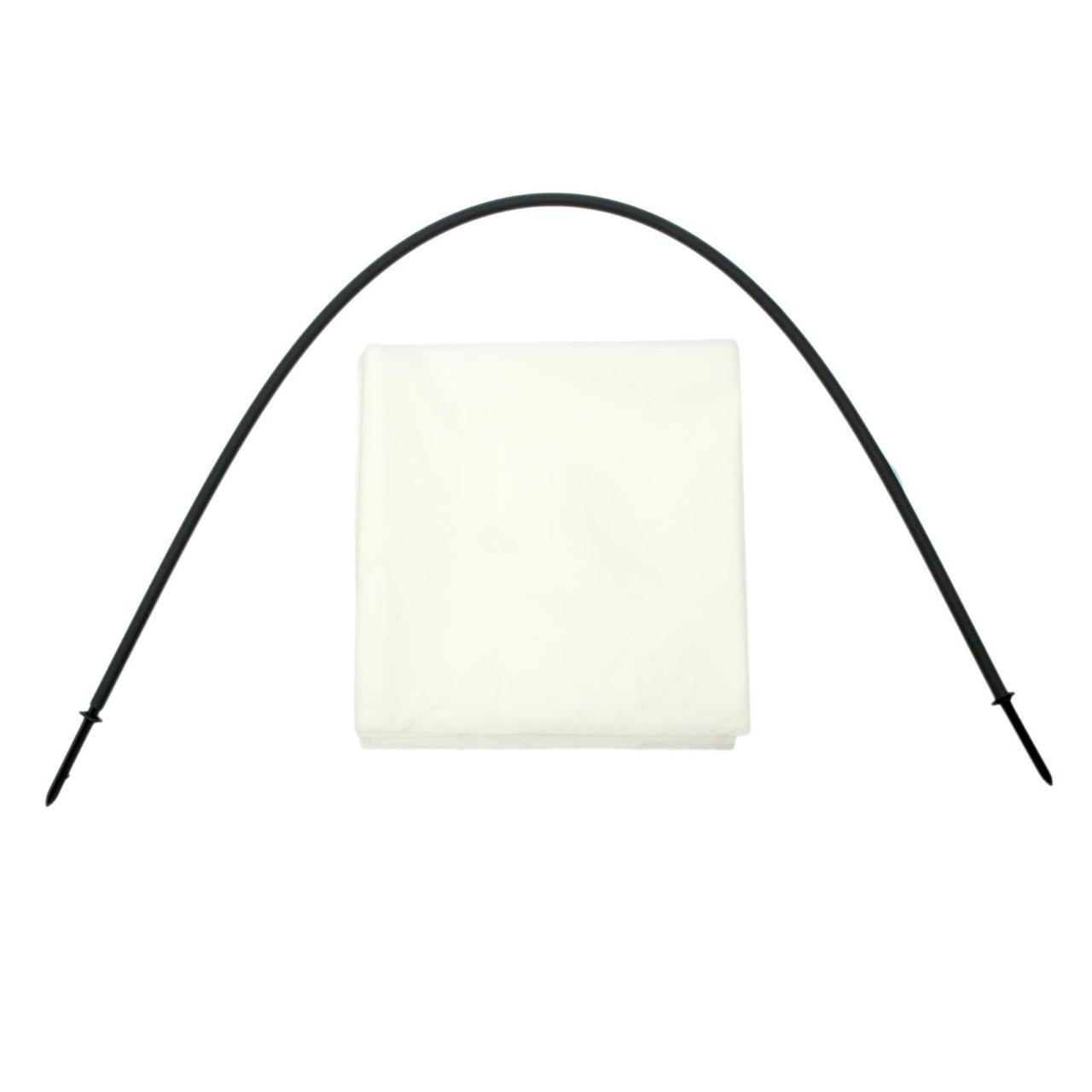 Парник с укрывным материалом белый с колышками 8,5 метров