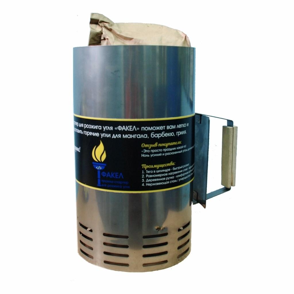 Кружка-стартер для быстрого розжига угля факел нержавеющая сталь фото