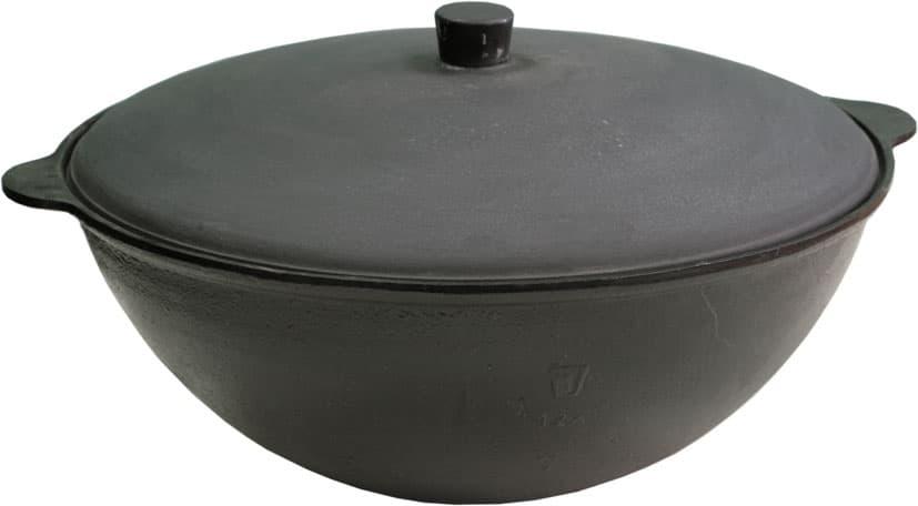 Чугунный казан 12 л. Балезинский ЛМЗ + Печь d-360 мм сталь 2 мм. - фото 4842