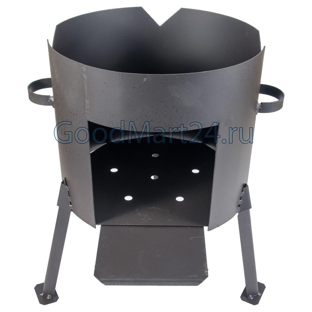 Чугунный казан 12 л. Балезинский ЛМЗ + Печь d-360 мм сталь 2 мм. - фото 4843
