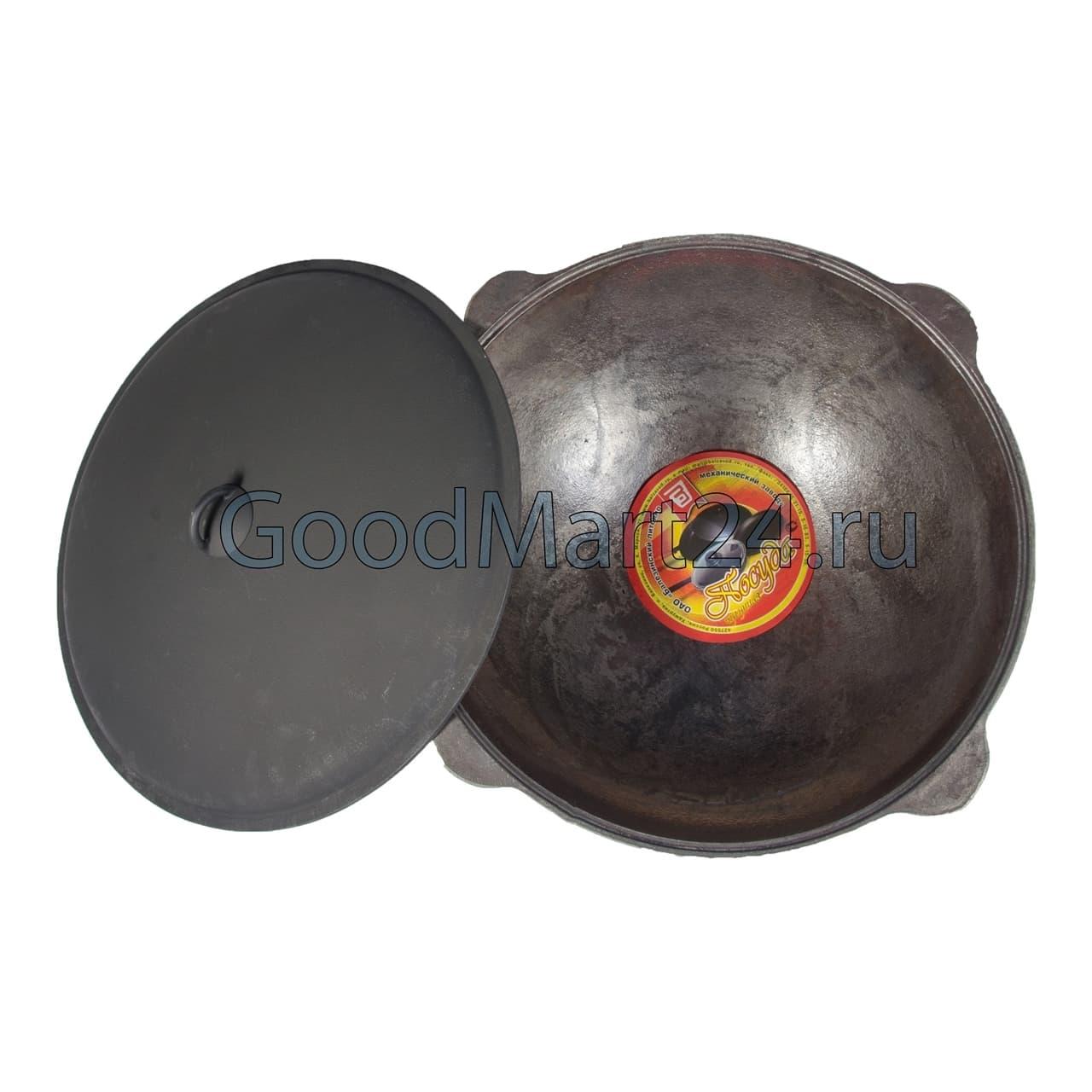 Чугунный казан 12 л. Балезинский ЛМЗ + Печь d-360 мм сталь 2 мм. - фото 4844