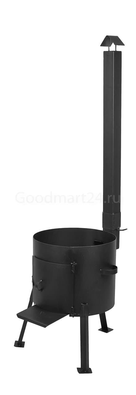 Казан из чугуна 18 литров БЛМЗ и печь с трубой сталь 2 мм фото