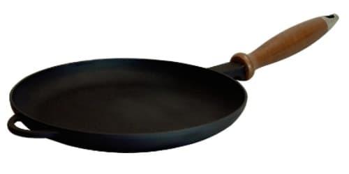 Сковорода блинная 240Х25 мм. деревянная ручка Ситон Ч2425д
