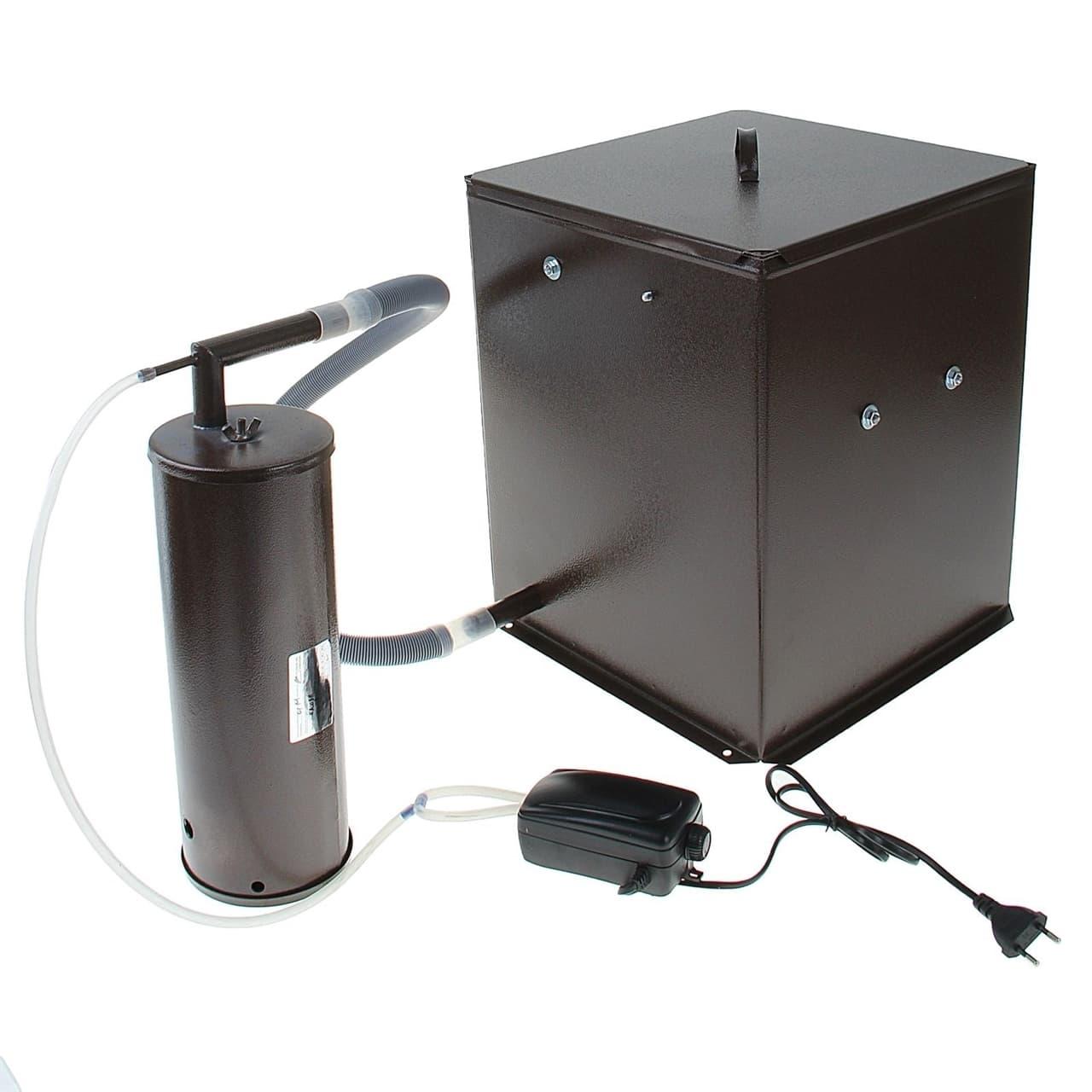 Коптильня Дым Дымыч 01М холодного копчения с емкостью 32 л. УЗБИ - фото 5298