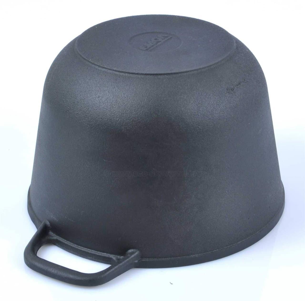 Кастрюля чугунная 6 л. с крышкой сковородой БИОЛ 0206 купить