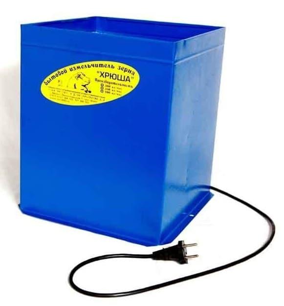 Зернодробилка бытовая электрическая ''Хрюша'', до 300кг/ч ЭлектроМаш - фото 5403