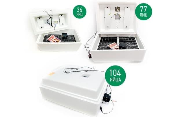 Инкубатор Несушка 104 яйца 220/12 В, автомат. поворот, цифр. терм., арт. 64 - фото 5495
