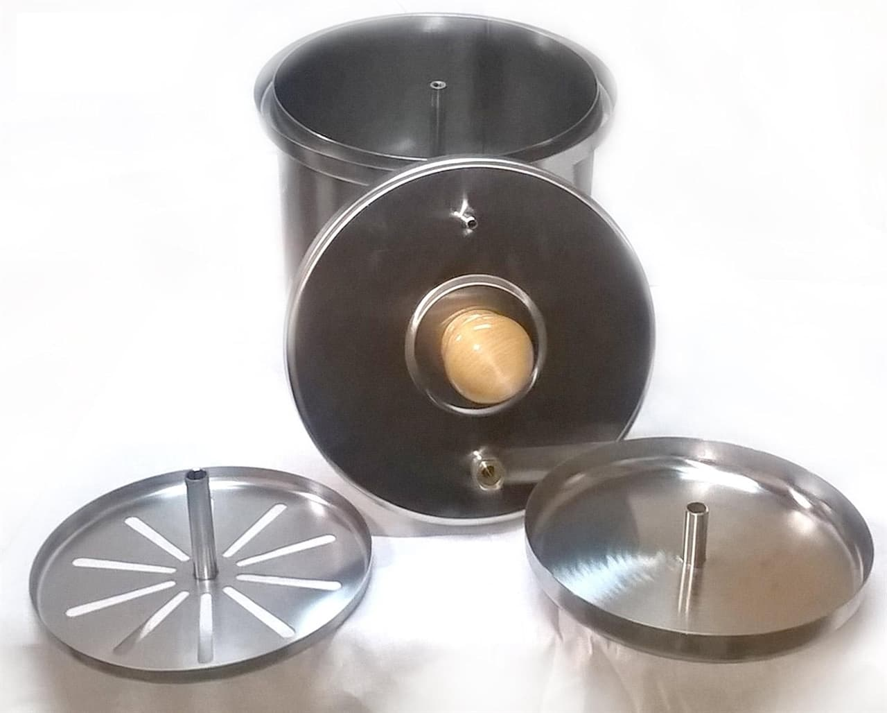 Коптильня цилиндрическая из нержавеющей стали ДЫМКА - КМ-1 - фото 5524