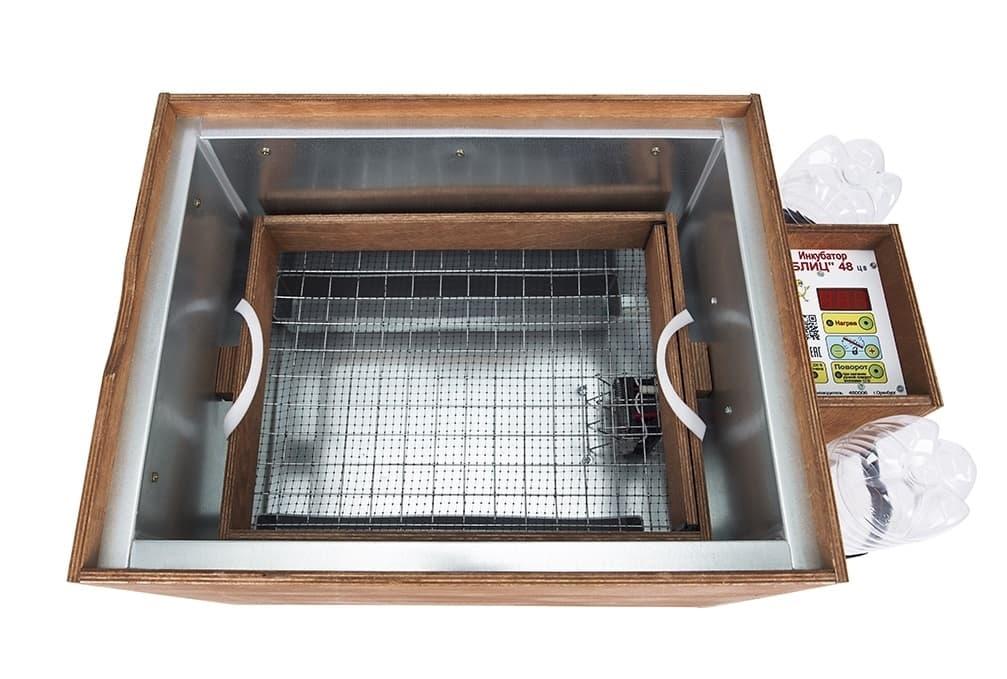 Заказать с доставкой инкубатор блиц 48 цифровой 220/12В, автомат.поворот, рег. влажности