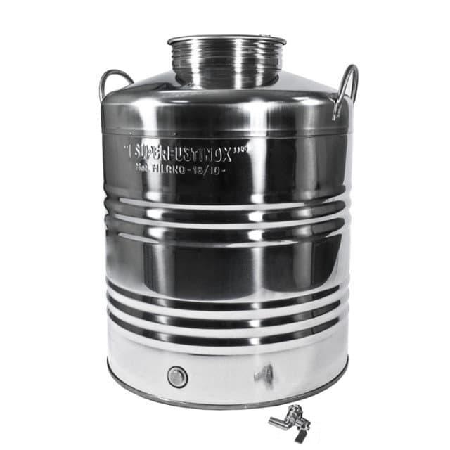 Традиционная бочка с краном на 10 литров из нержавеющей стали Sansone - фото 6063