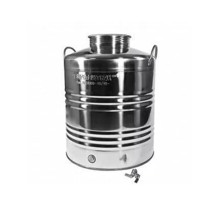 Традиционная бочка с краном на 10 литров из нержавеющей стали Sansone - фото 6064