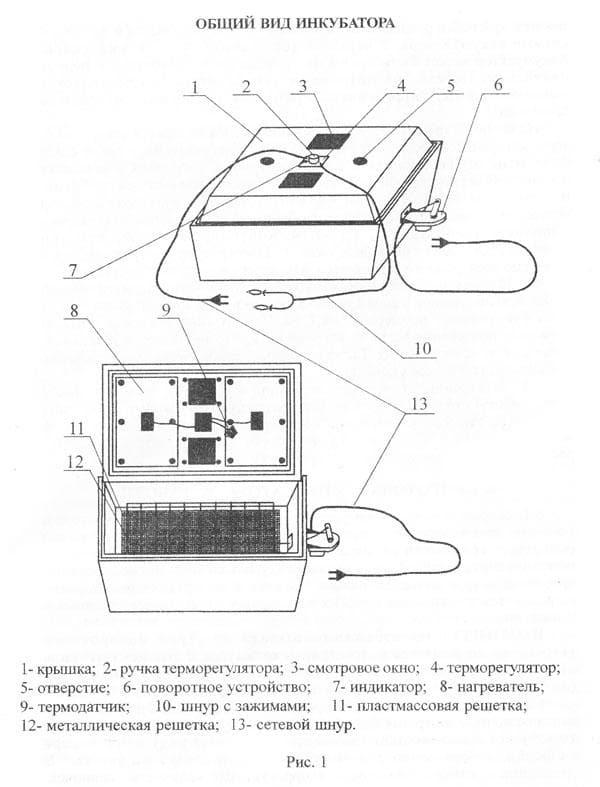 Инкубатор Золушка 28 яиц, автопереворот, 220/12В, аналоговый терм., гигрометр - фото 6197