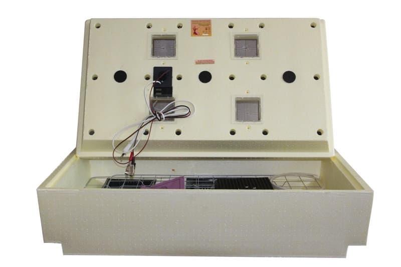 Инкубатор Золушка 98 яиц 220/12В, аналоговый терм