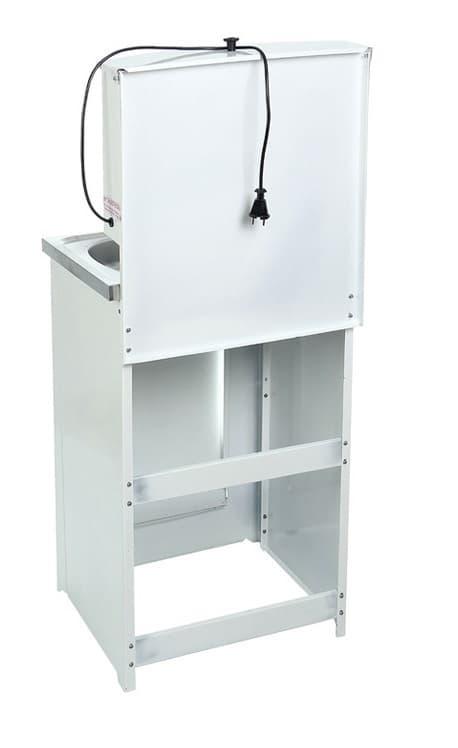 Умывальник дачный с подогревом (1,25 кВт), мойка нерж, 17 л. Акватекс, белый фото