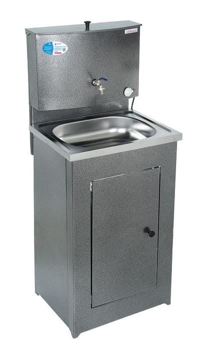 Умывальник дачный с подогревом (1,25 кВт), мойка нерж, 17 л. Акватекс, антик-серебро - фото 6329