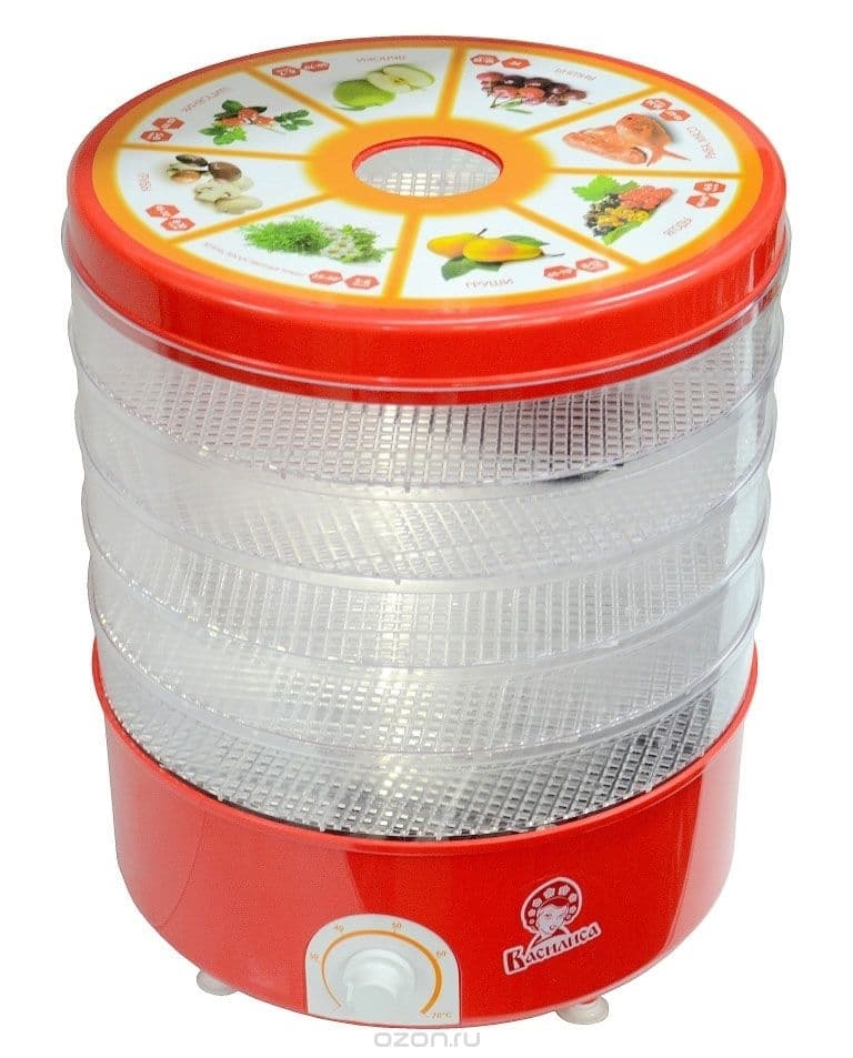 Сушилка для овощей и фруктов электр. ВАСИЛИСА СО3-520, 520 Вт, прозрачная - фото 6427