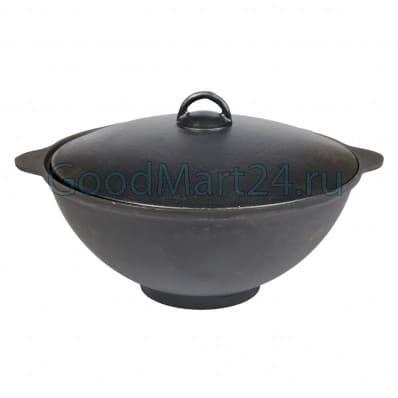 печь kukmara и чугунный казан блмз с крышкой 8 л.