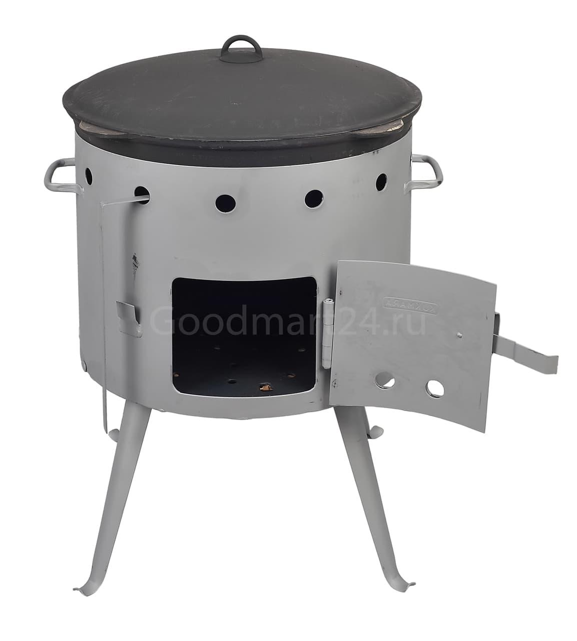 чугунный казан с крышкой 12 л. балезино и печь kukmara купить