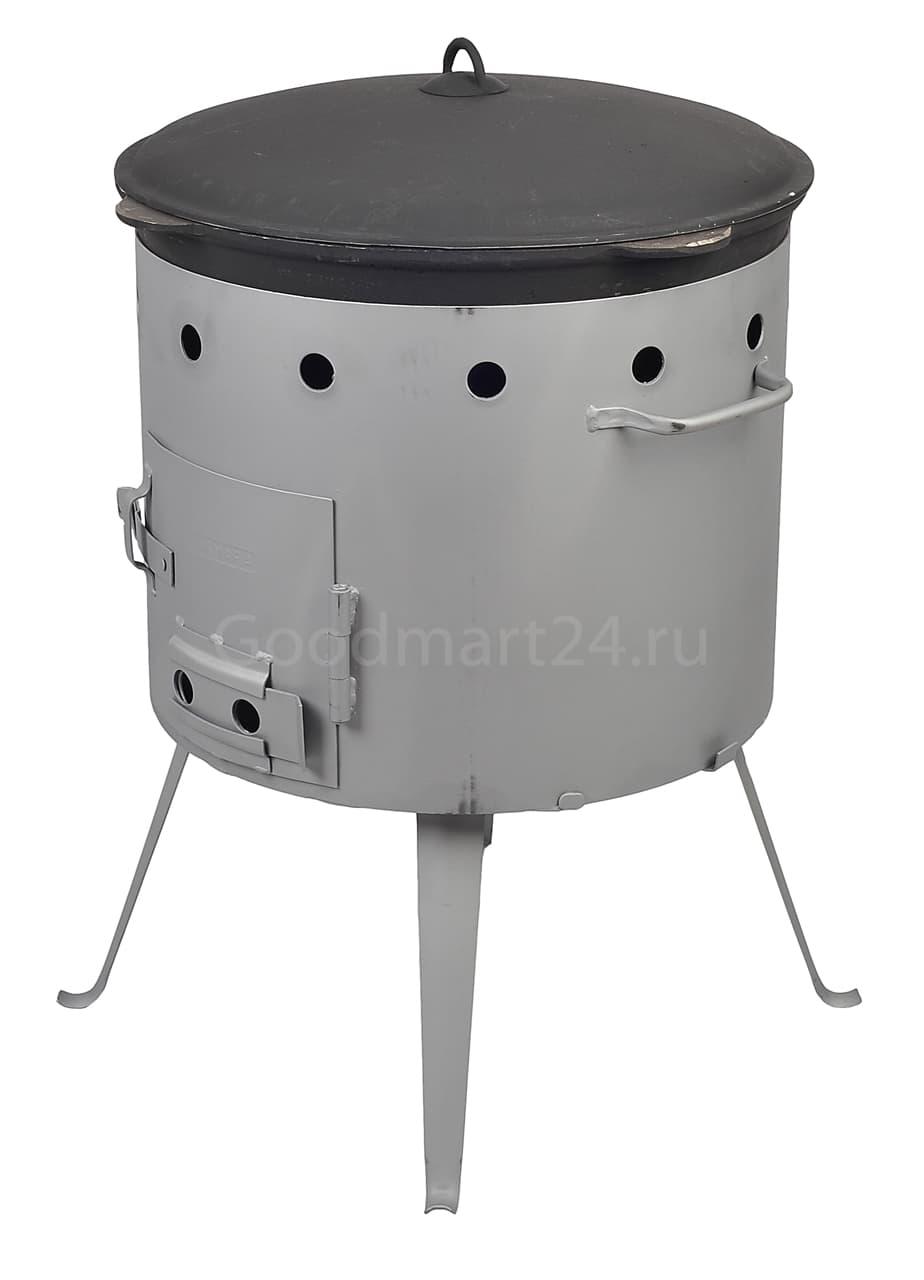 Чугунный казан с крышкой 12 л. Балезино и печь KUKMARA - фото 6593