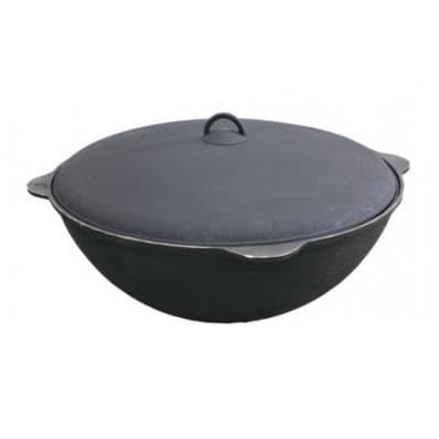 Чугунный казан с крышкой 18 л. Балезино и печь KUKMARA - фото 6603