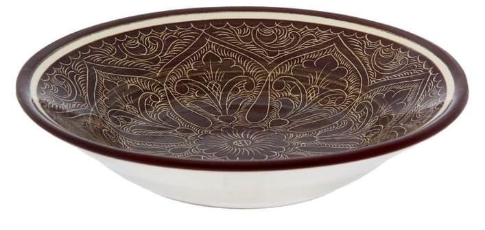 Тарелка глубокая Риштанская Керамика 19 см. коричневая - фото 7533