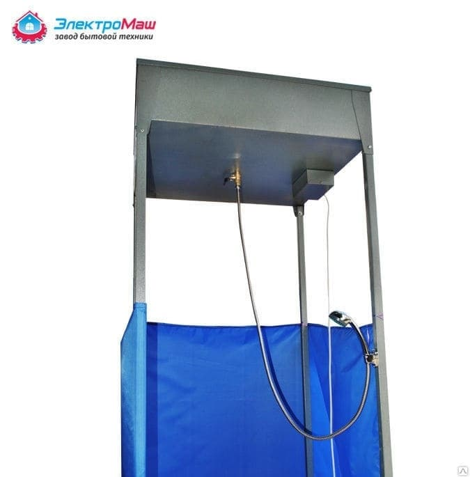Дачный душ с подогревом со шлангом Электромаш - фото 7709