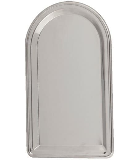 Поднос фасонный из нержавейки под самовар 400х230 мм. Штамп - фото 8997