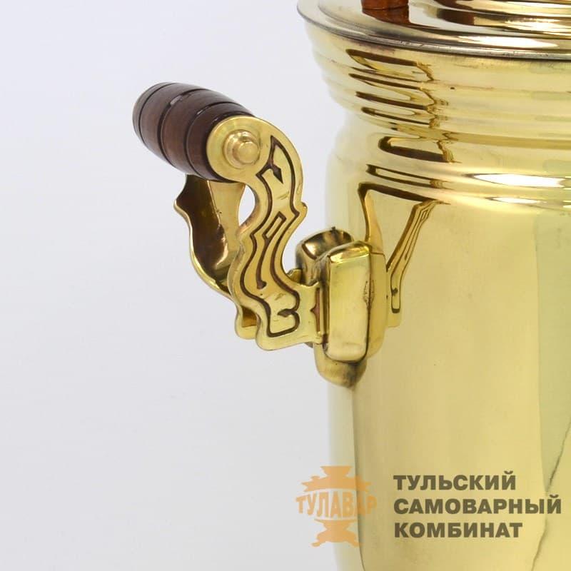 Самовар  жаровой (угольный) 5 л. латунь (банка) ТСК - фото 9127
