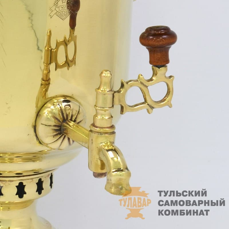 Самовар  жаровой (угольный) 5 л. латунь (банка) ТСК - фото 9128
