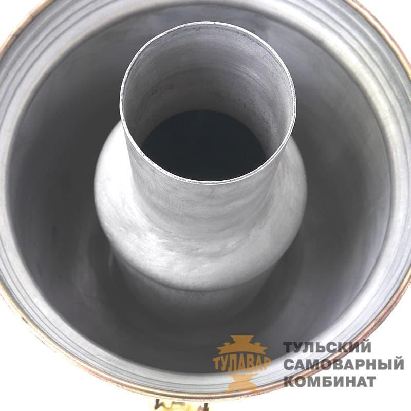 Самовар  жаровой (угольный) 5 л. латунь (банка) ТСК - фото 9130