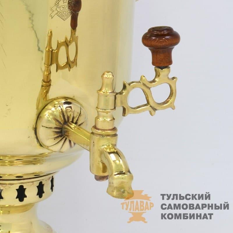 Самовар жаровой (угольный) 7 л. латунь (банка) ТСК - фото 9135