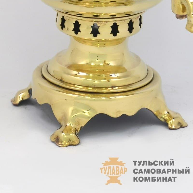 Самовар жаровой (угольный) 7 л. латунь (банка) ТСК - фото 9136