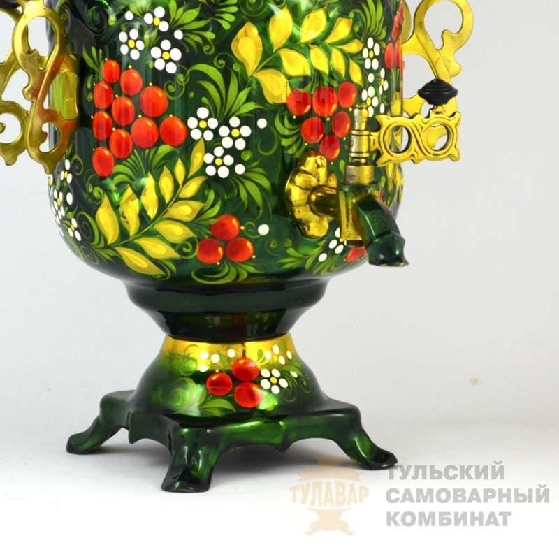 Самовар Рябина на зелёном 3 литра электр. банка ТСК - фото 9186