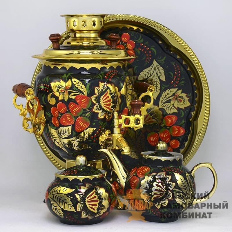Набор Золотая Хохлома 3 л. желудь, электрический, 4 предмета,  ТСК - фото 9195