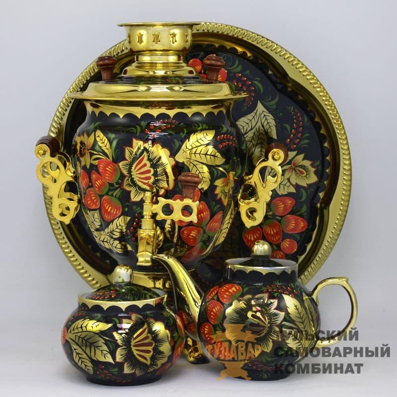 Набор Золотая Хохлома 3 л. желудь, электрический, 4 предмета,  ТСК - фото 9196