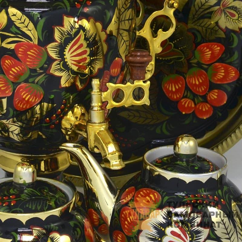 Набор Золотая Хохлома 3 л. желудь, электрический, 4 предмета,  ТСК - фото 9199