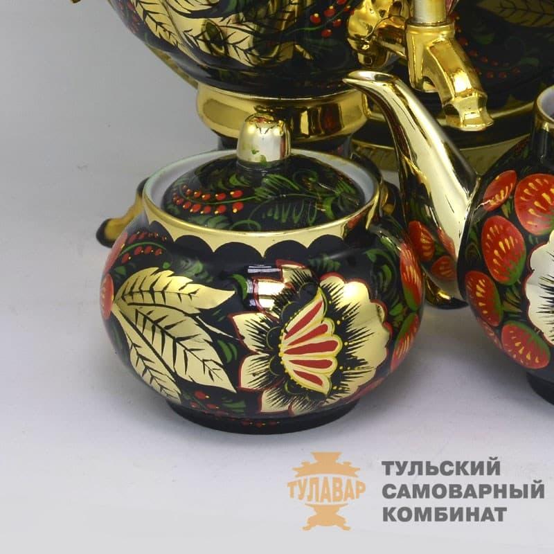Набор Золотая Хохлома 3 л. желудь, электрический, 4 предмета,  ТСК - фото 9200