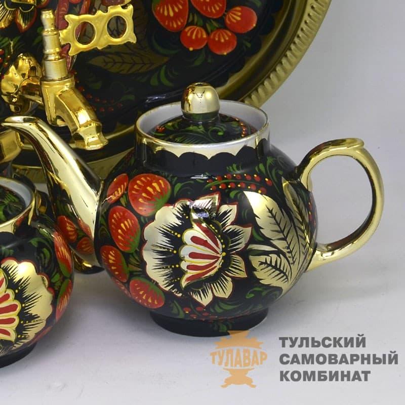 Набор Золотая Хохлома 3 л. желудь, электрический, 4 предмета,  ТСК - фото 9201