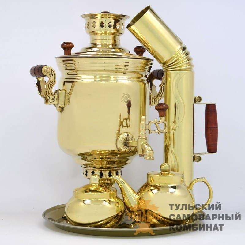 Набор Традиционный жаровой 5 л. банка, латунь, 5 предметов, ТСК - фото 9235