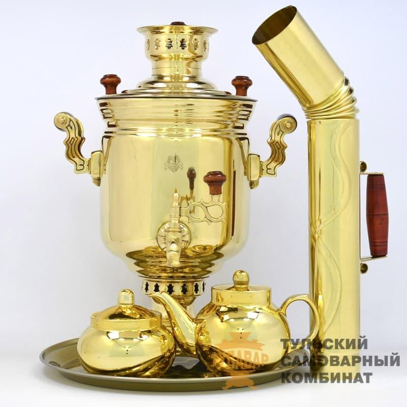 Набор Традиционный жаровой 5 л. банка, латунь, 5 предметов, ТСК - фото 9236
