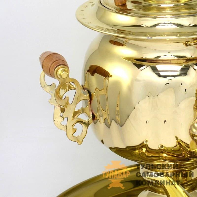 Набор Овал 3 л. электрический, латунь, поднос, чайник, ТСК - фото 9266